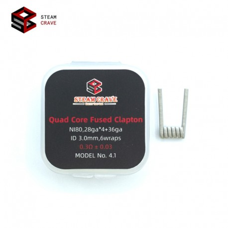 Résistances Quad Core Fused Clapton NI80 - Steam Crave